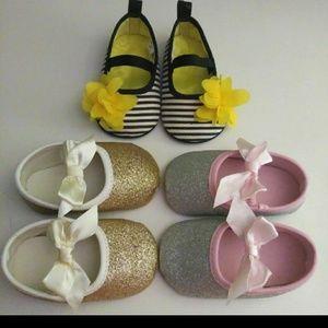 Other - Boutique (6-9M) 3pr. Shoe Bundle